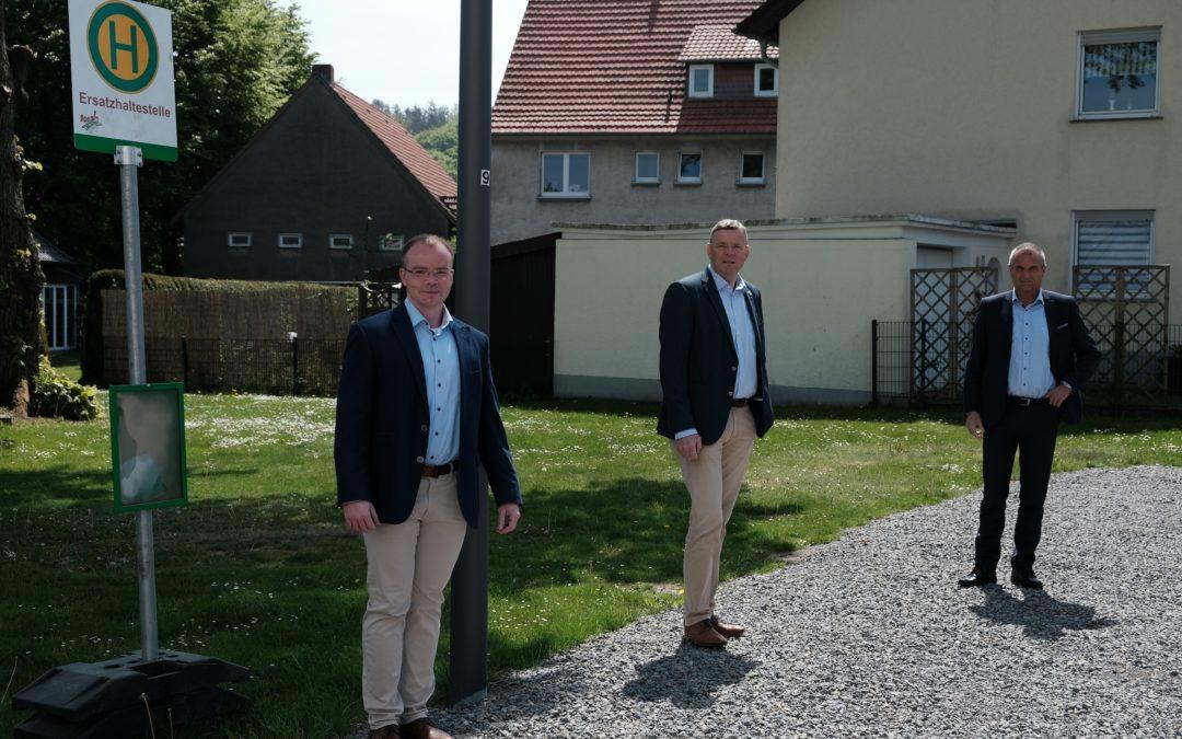 """Bushaltestellenumlegung und Ausbau einer barrierefreien Haltestelle """"Große Straße"""""""